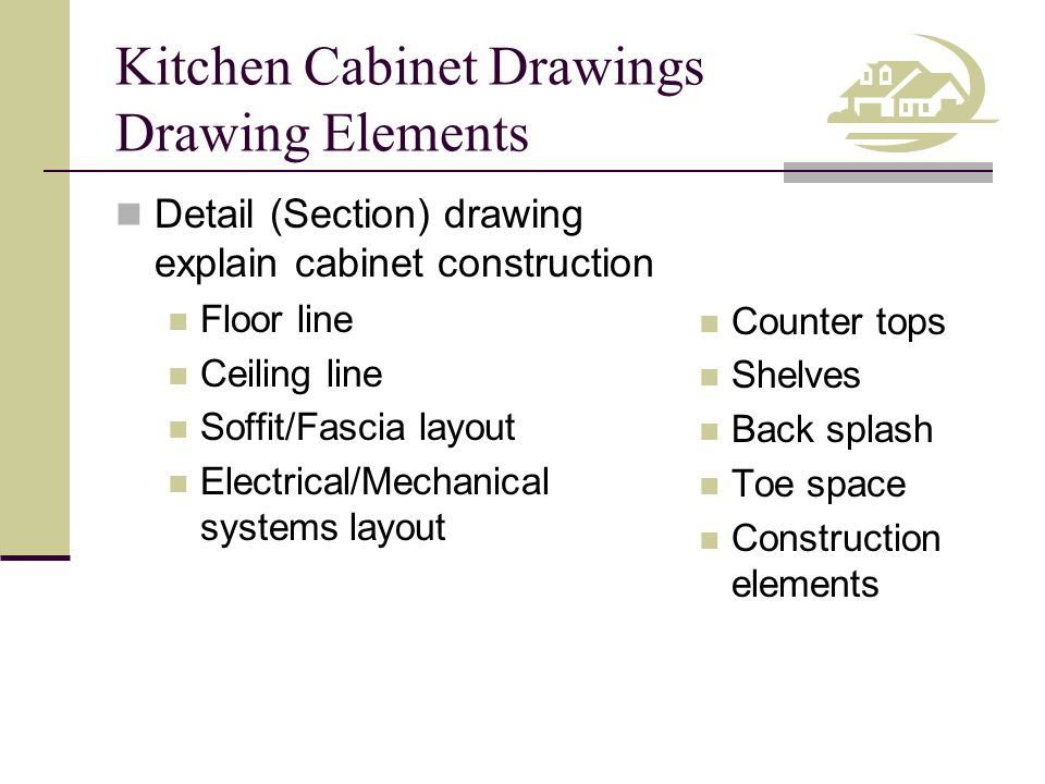 Kitchen Cabinet Drawings Drawing Elements