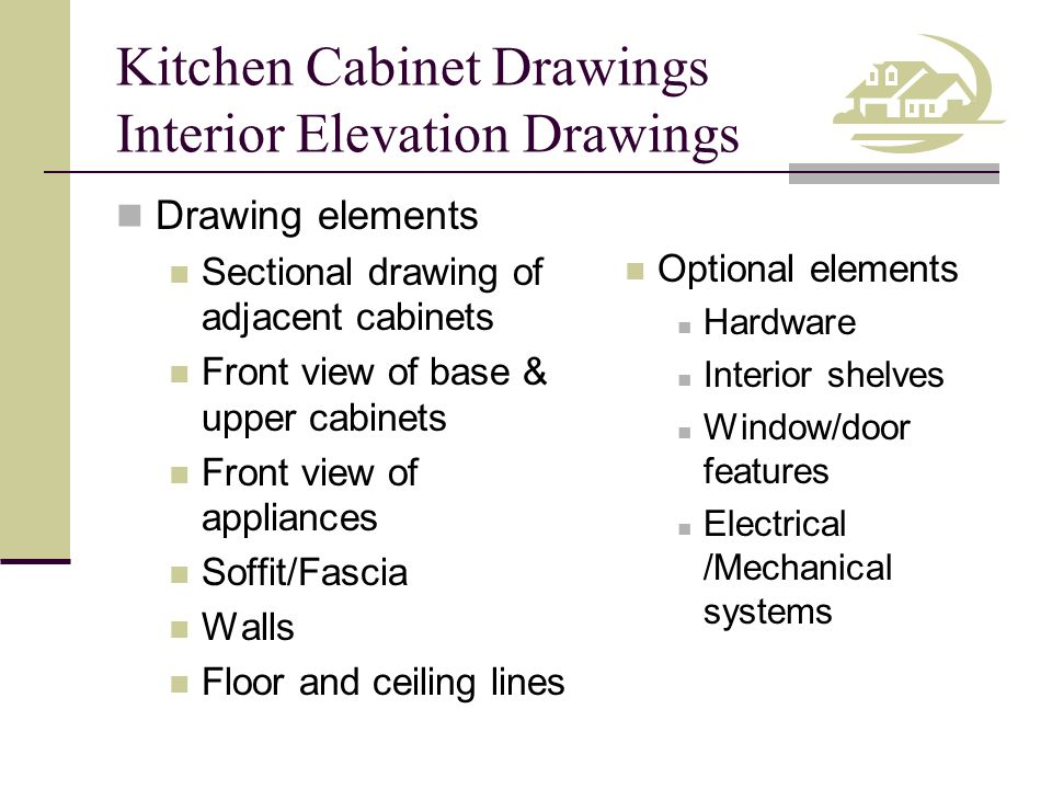 Kitchen Cabinet Drawings Interior Elevation Drawings