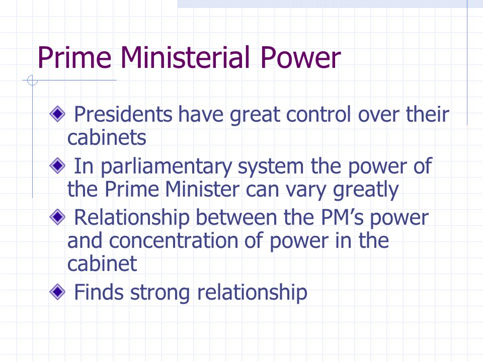 Prime Ministerial Power