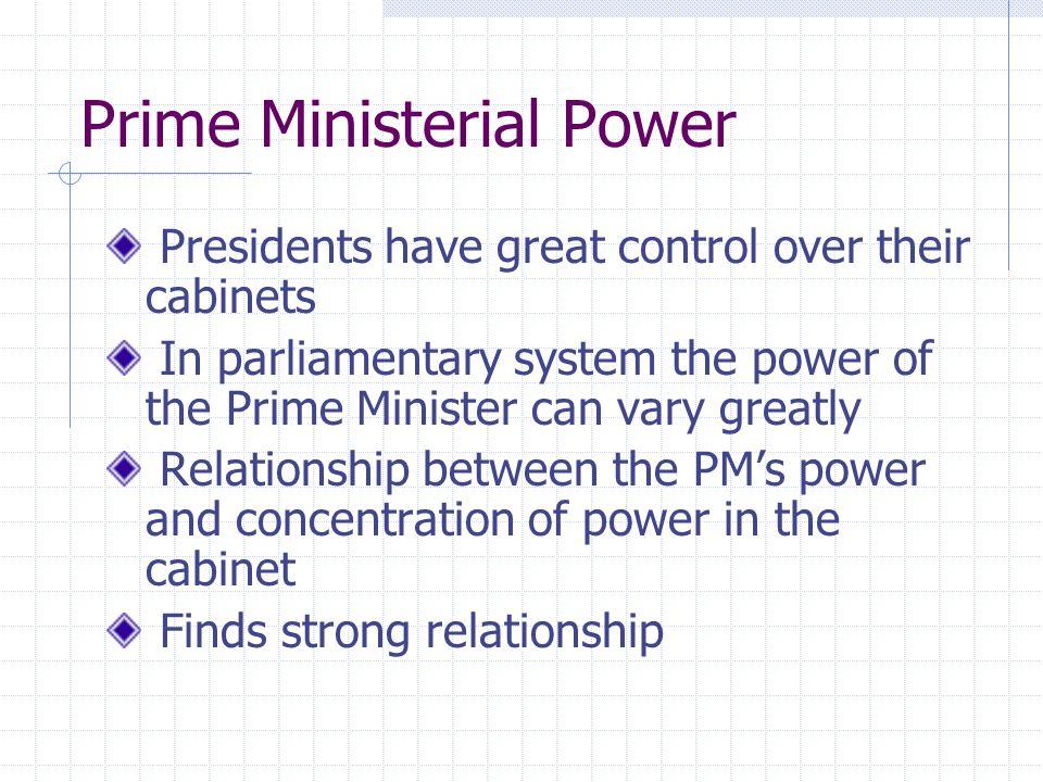 Prime Ministerial Power