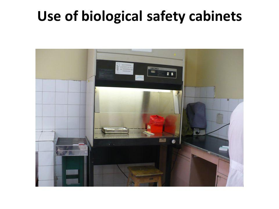 Use of biological safety cabinets