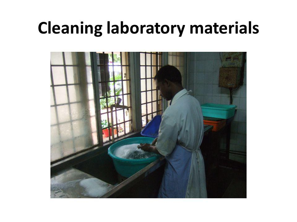 Cleaning laboratory materials