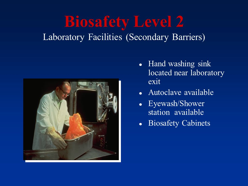 Biosafety Level 2 Laboratory Facilities (Secondary Barriers)