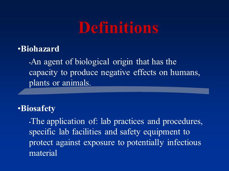 Definitions Biohazard