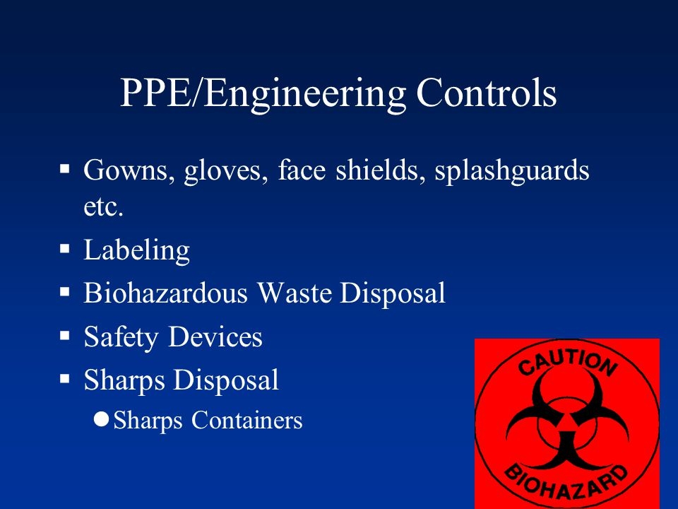 PPE/Engineering Controls