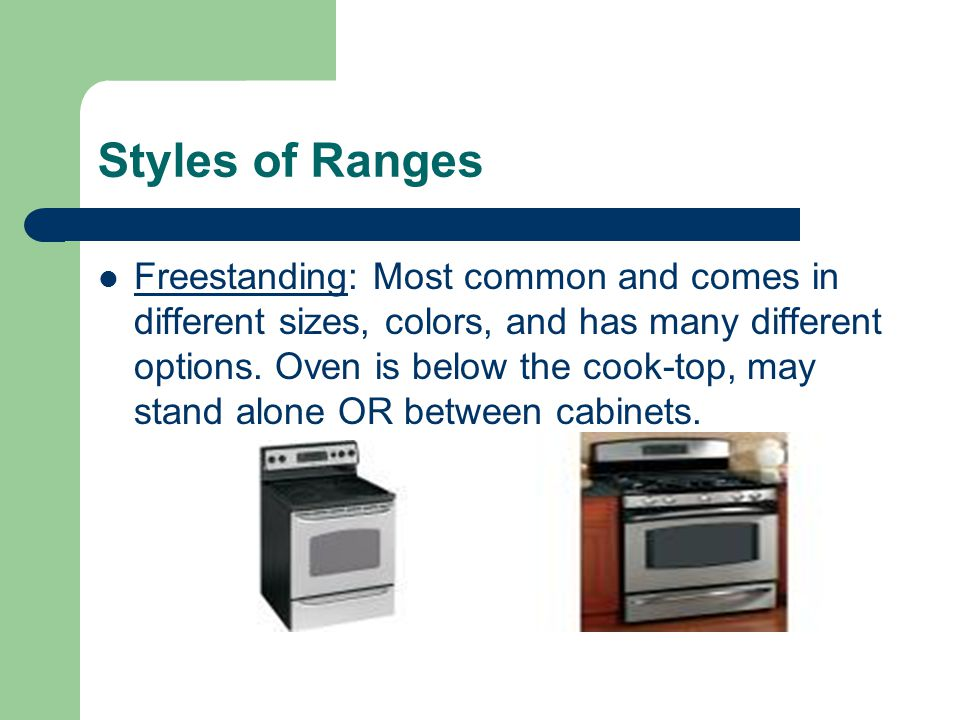 Styles of Ranges
