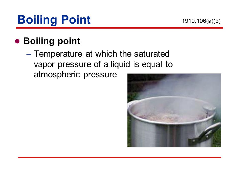 Boiling Point Boiling point