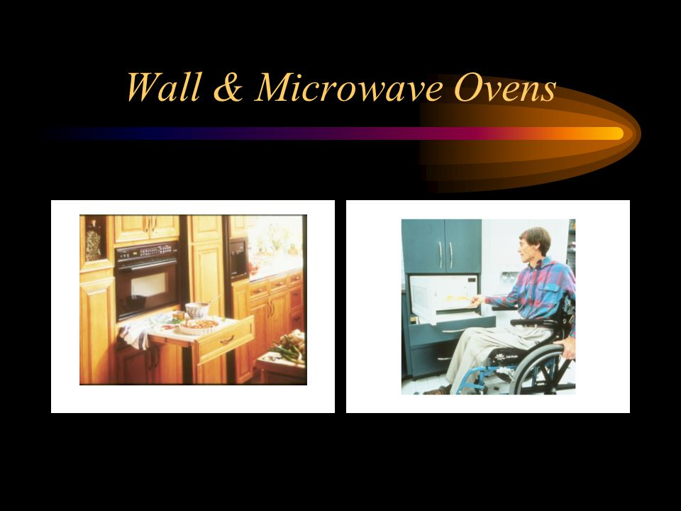 Wall & Microwave Ovens In both pictures, see the pull-out shelves.