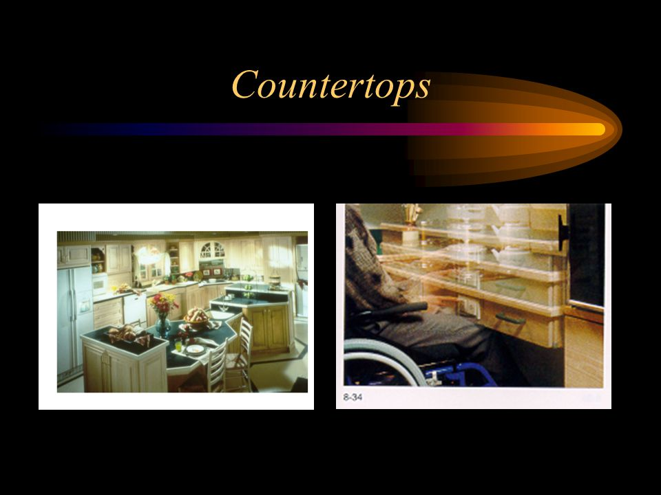 Countertops In this picture, see the varied countertop levels.