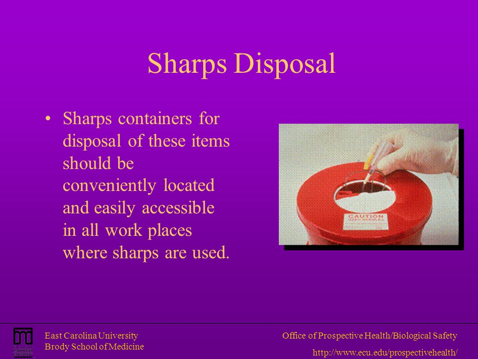 Sharps Disposal