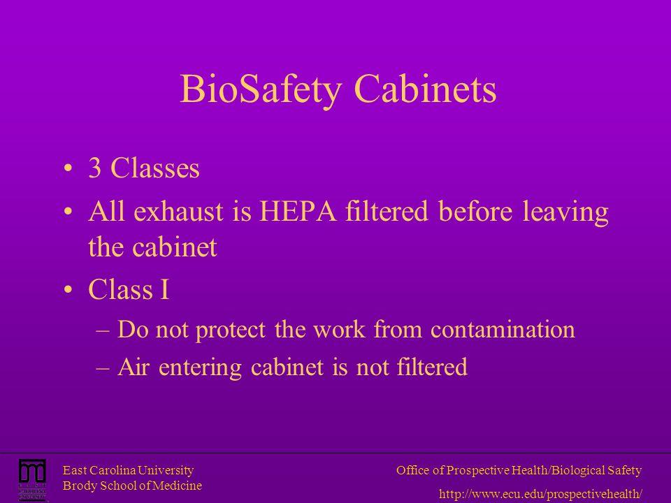 BioSafety Cabinets 3 Classes