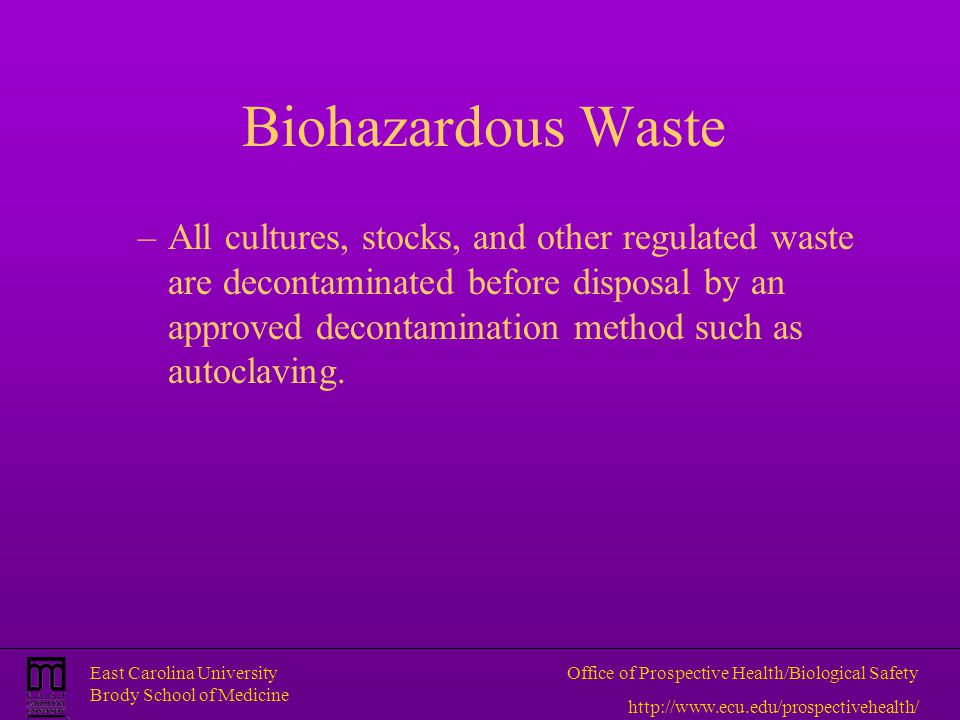 Biohazardous Waste