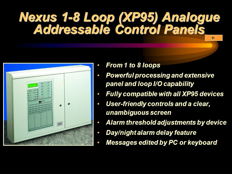 Nexus 1-8 Loop (XP95) Analogue Addressable Control Panels