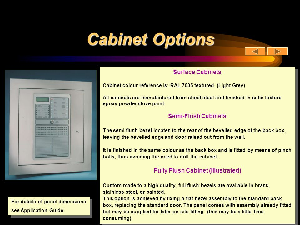 Fully Flush Cabinet (Illustrated)