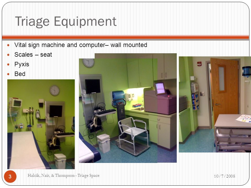 Triage Equipment Vital sign machine and computer– wall mounted