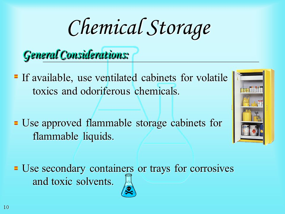 Chemical Storage General Considerations: