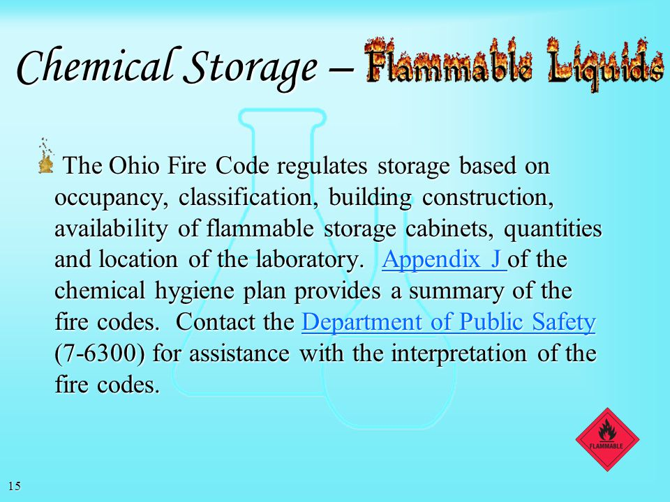 Chemical Storage –