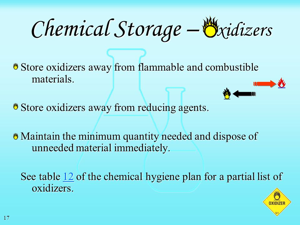 Chemical Storage – xidizers