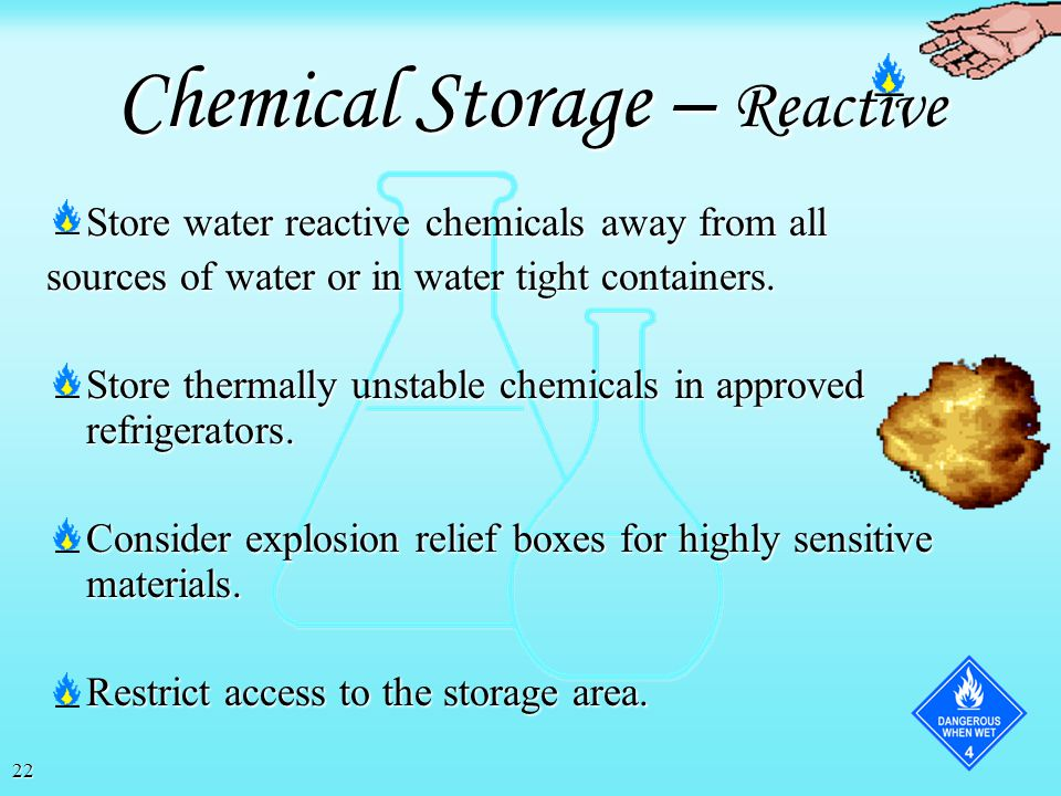 Chemical Storage – Reactive