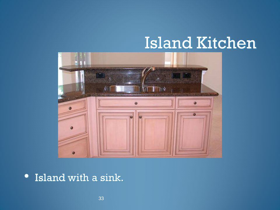Island Kitchen Island with a sink. 33