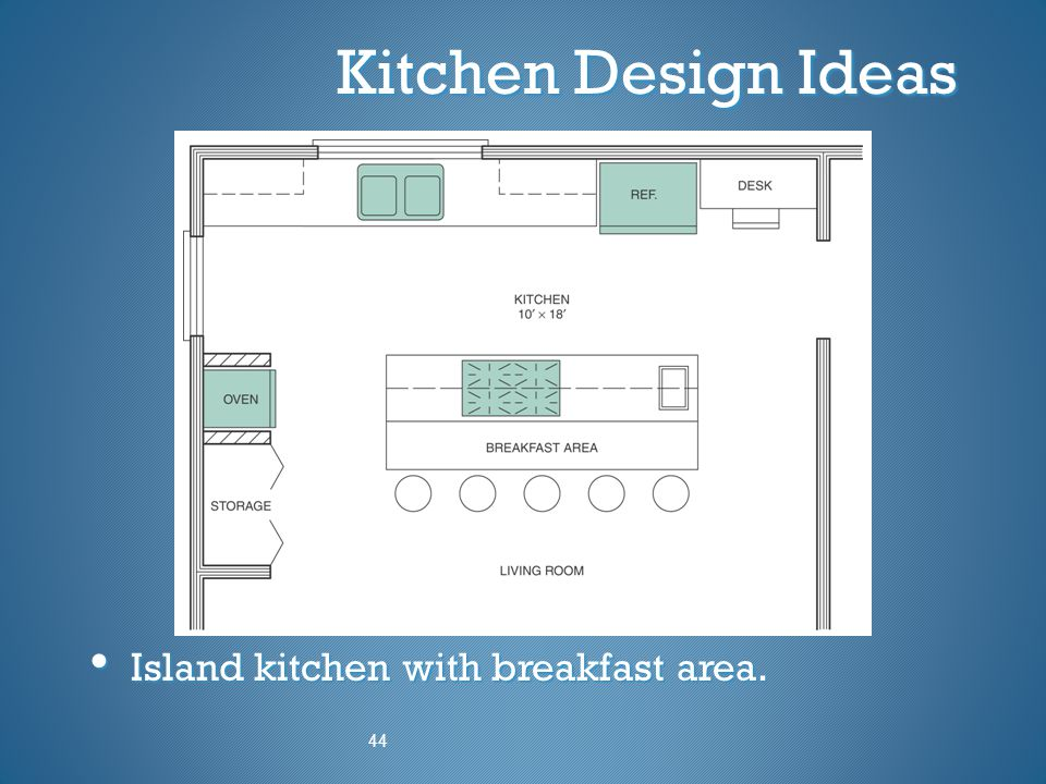 Kitchen Design Ideas Island kitchen with breakfast area. 44