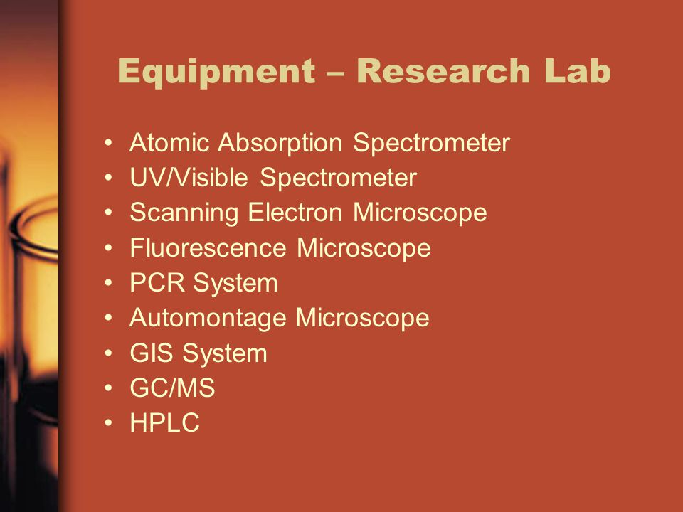 Equipment – Research Lab