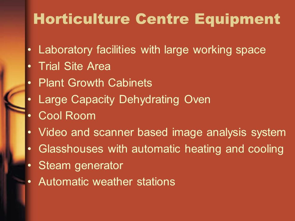 Horticulture Centre Equipment