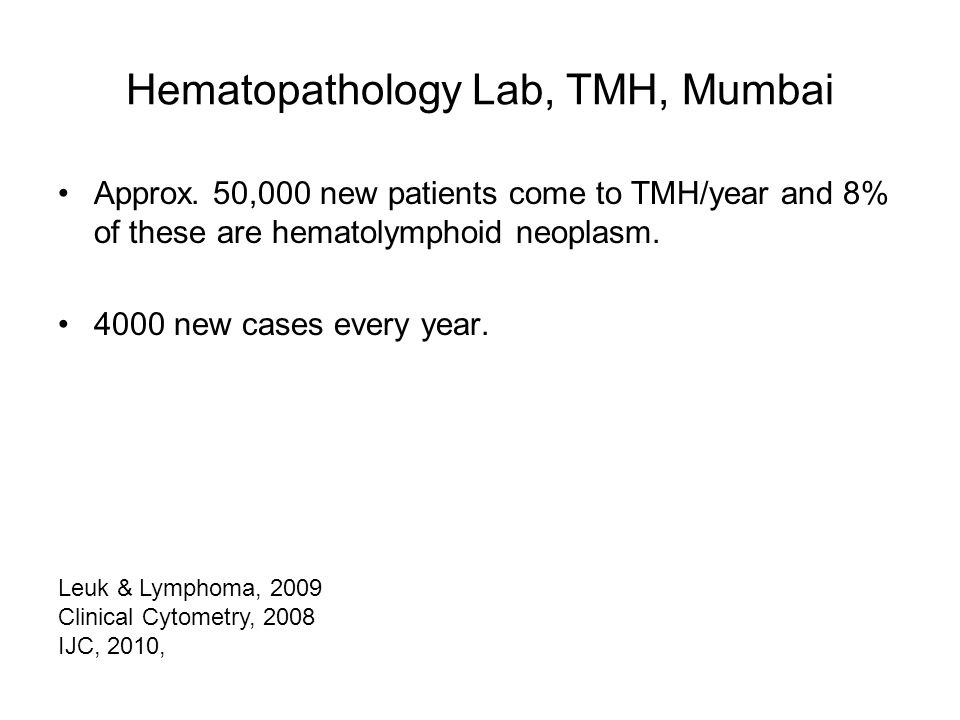 Hematopathology Lab, TMH, Mumbai