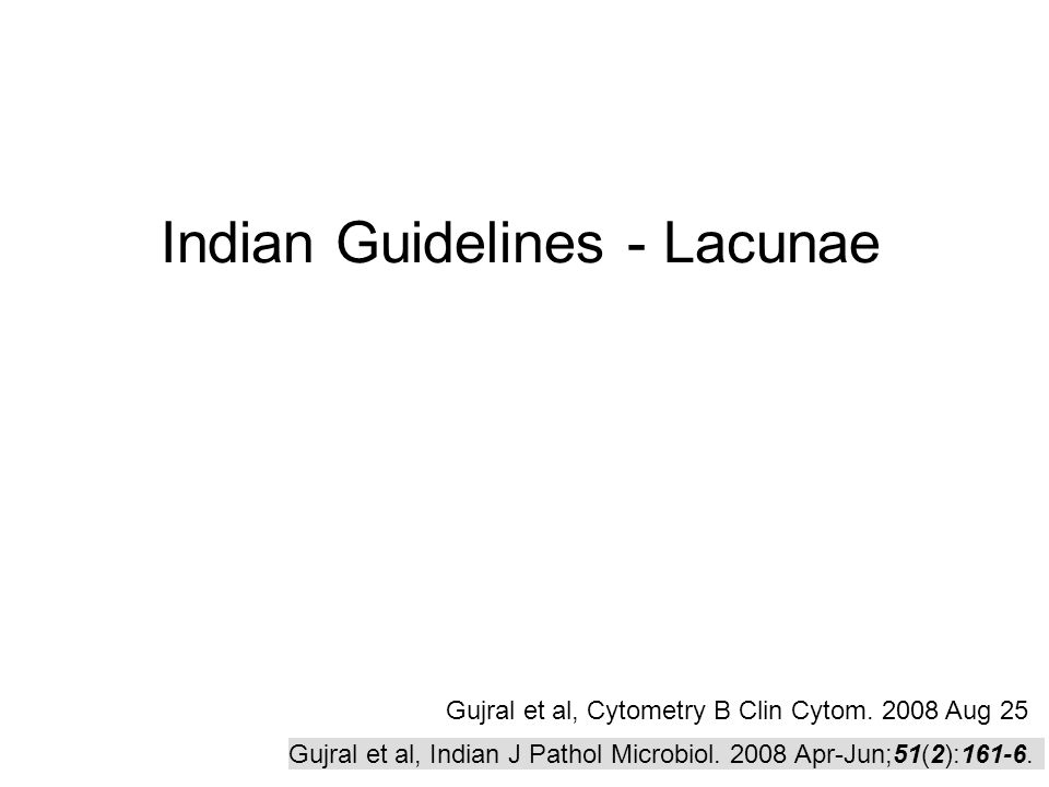 Indian Guidelines - Lacunae