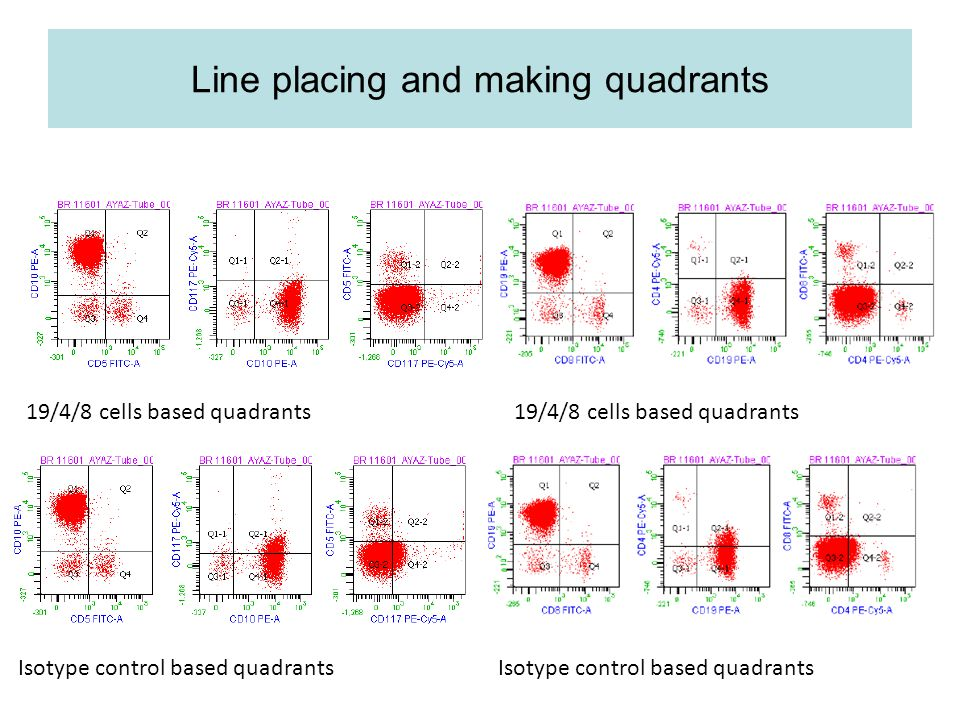 Line placing and making quadrants