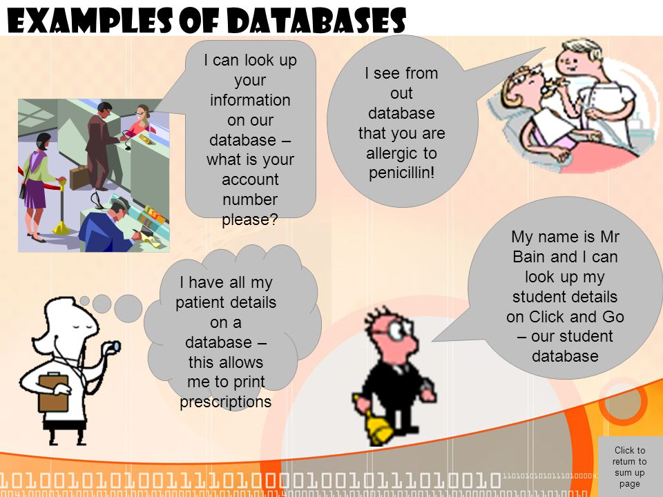 I see from out database that you are allergic to penicillin!