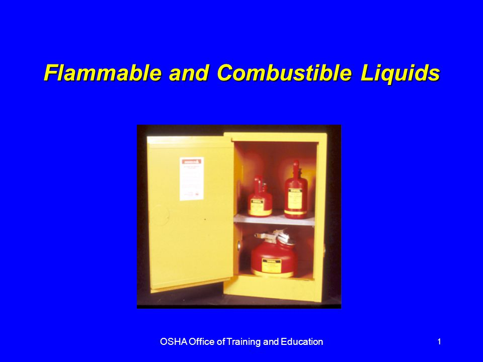 flammable and combustible liquids Flammableliquids 29 cfr 1910106 or 3 flammable liquids in the fuel openings to other rooms or buildings shall be provided with non‐combustible liquid tight.