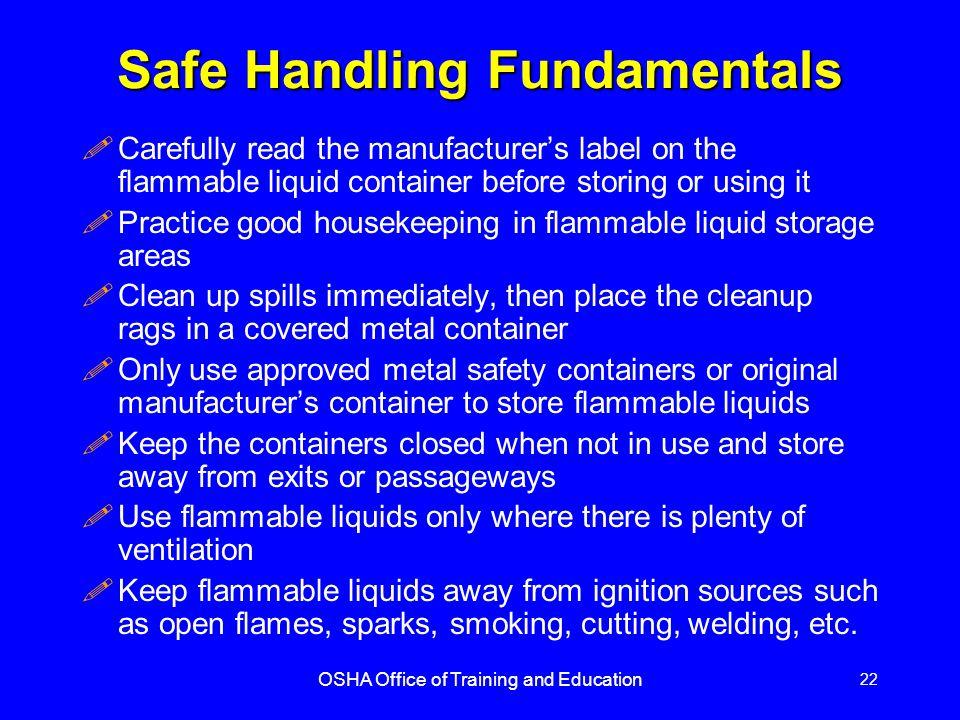 Safe Handling Fundamentals