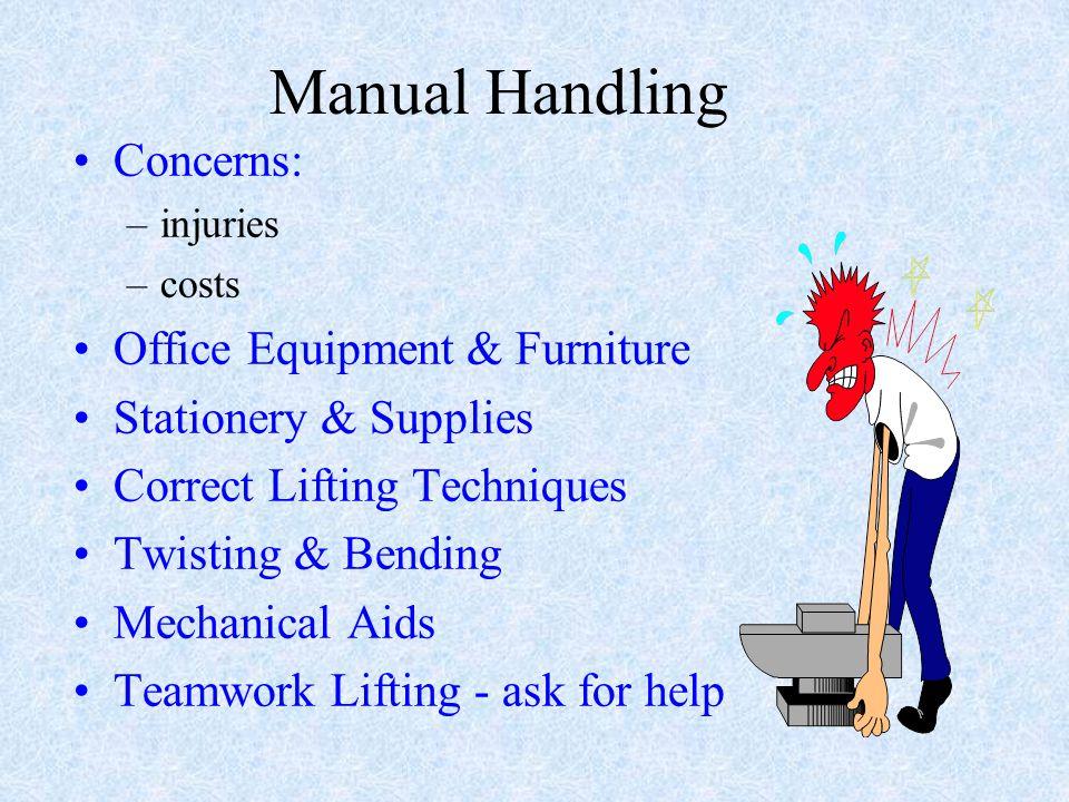 Manual Handling Concerns: Office Equipment & Furniture