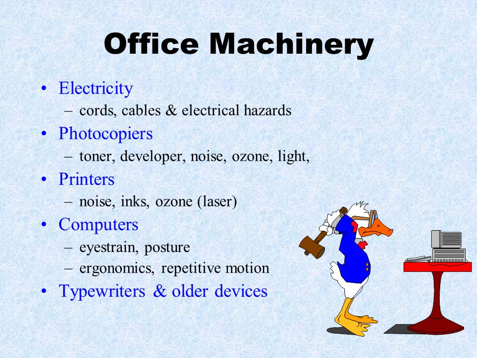 Office Machinery Electricity Photocopiers Printers Computers