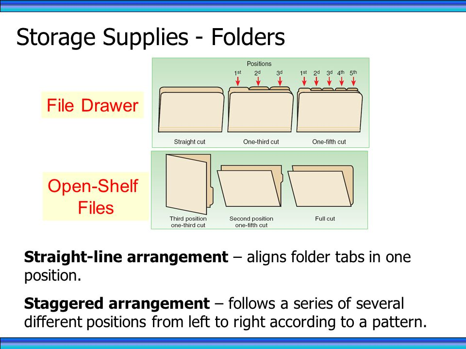 Storage Supplies - Folders