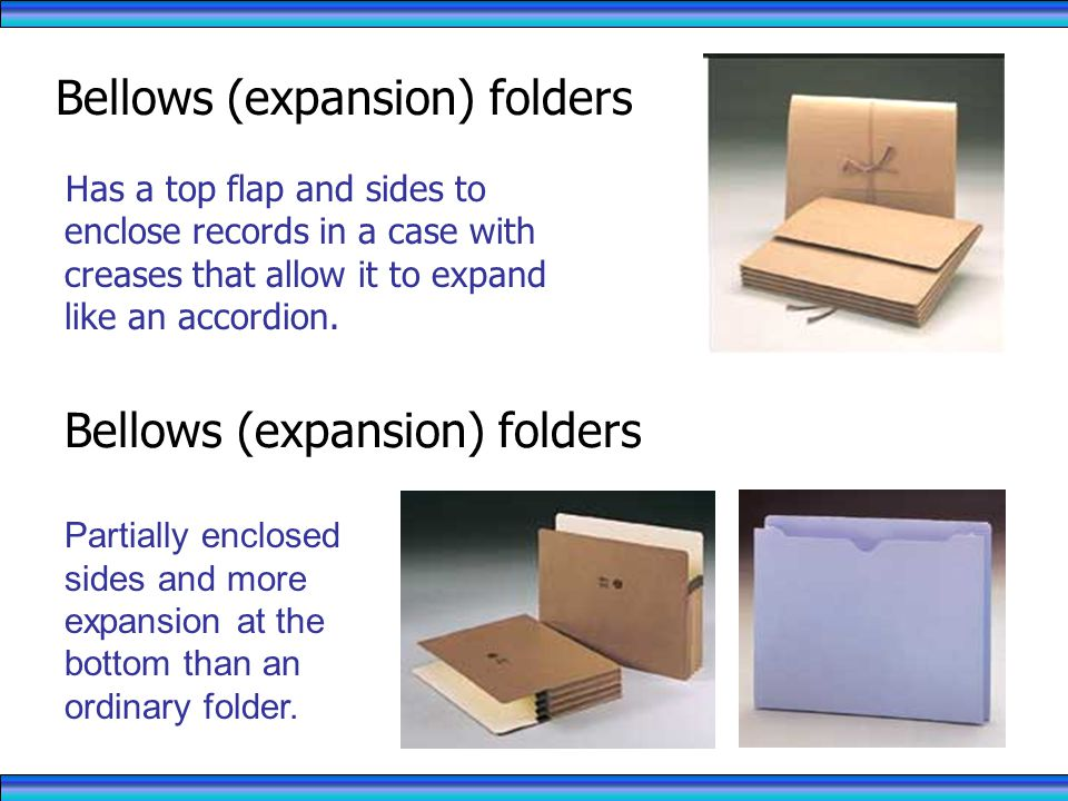 Bellows (expansion) folders