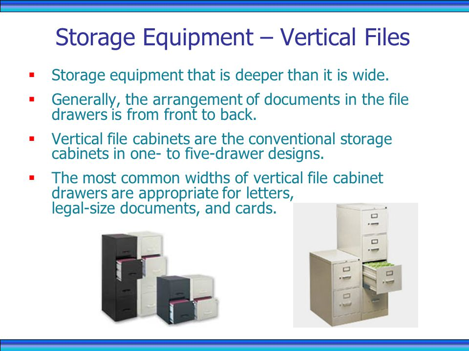 Storage Equipment – Vertical Files