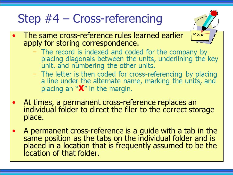 Step #4 – Cross-referencing