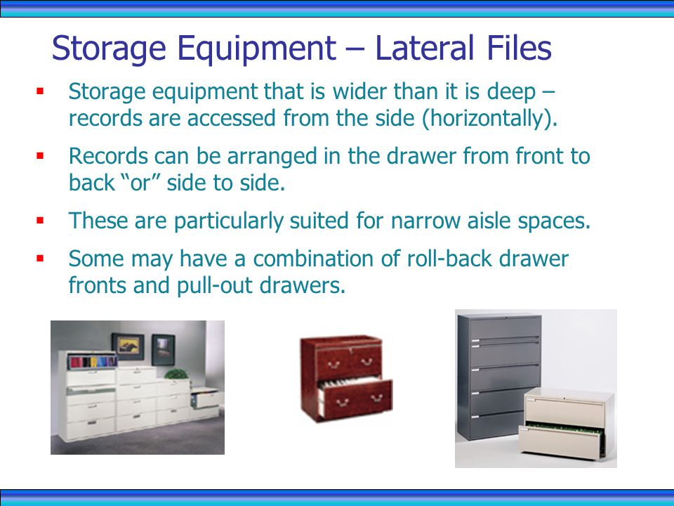 Storage Equipment – Lateral Files