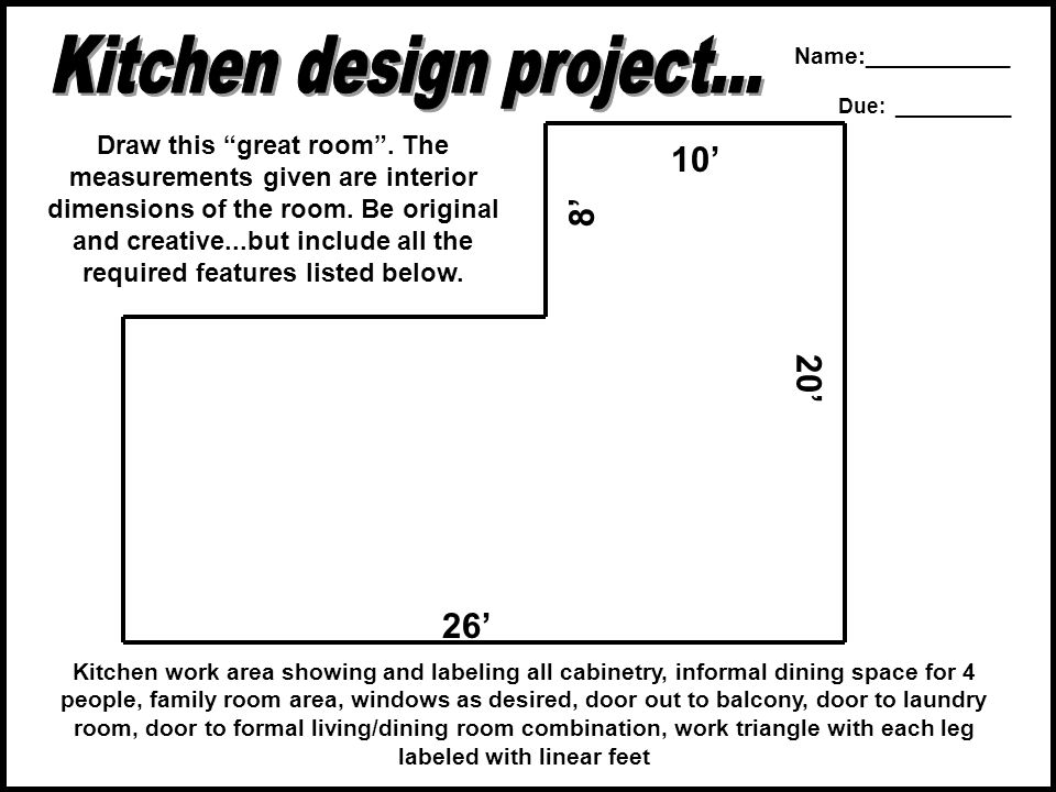 Kitchen design project...
