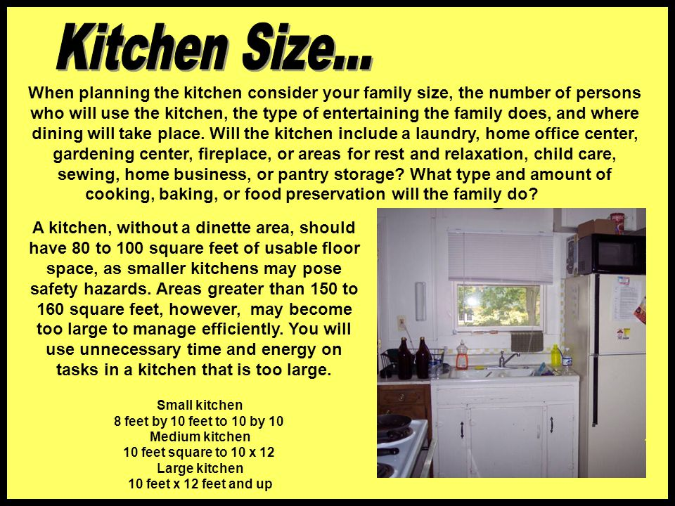Large kitchen 10 feet x 12 feet and up