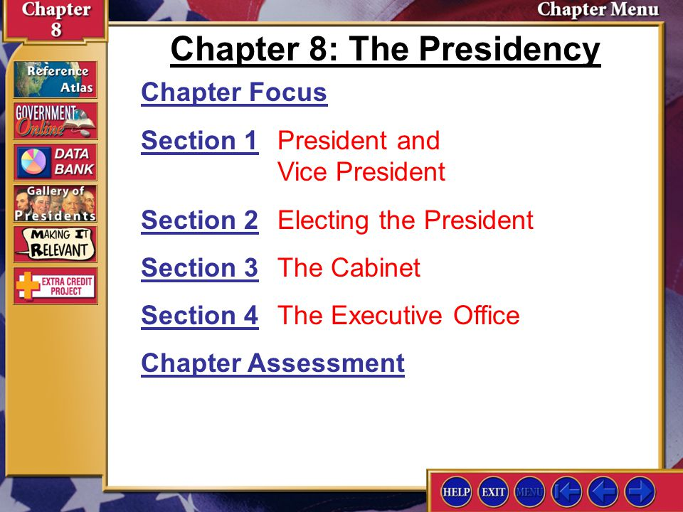 Chapter 8: The Presidency