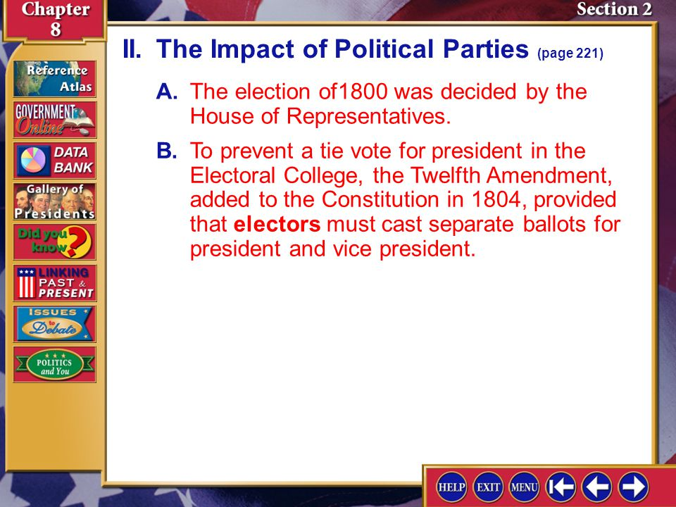 II. The Impact of Political Parties (page 221)