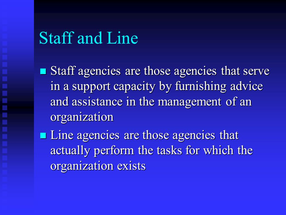 Staff and Line