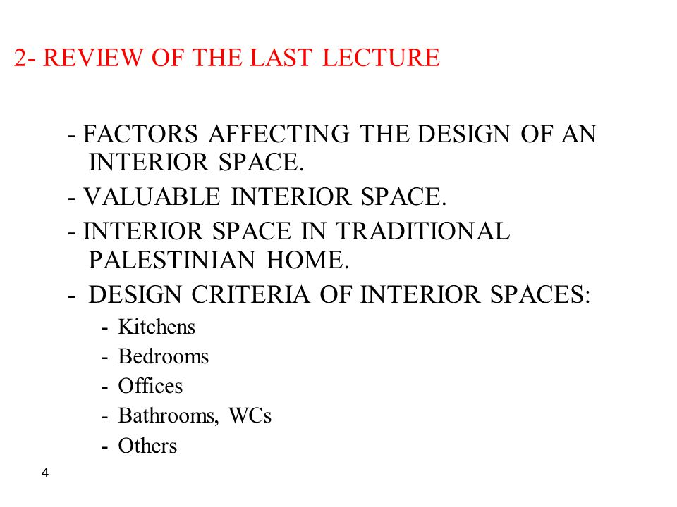 2- REVIEW OF THE LAST LECTURE