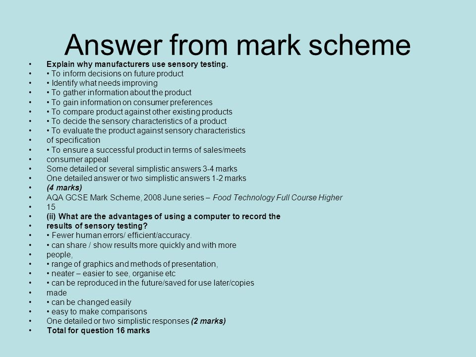 t totals coursework mark scheme Gcse food technology coursework guide this coursework guide offers valuable information and examples to assist with planning and completing your coursework  this is the first section of your coursework and should clearly show: your understanding of the task concise, relevant and focussed research.