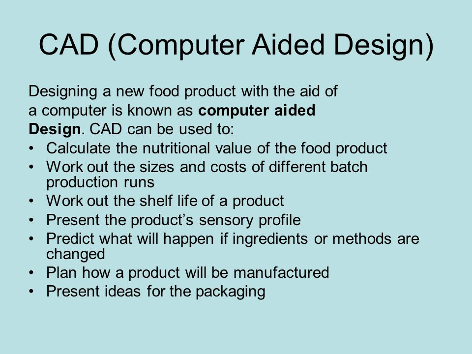 CAD (Computer Aided Design)