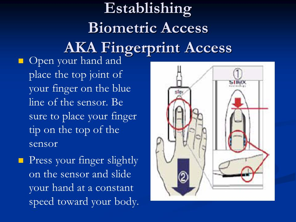 Establishing Biometric Access AKA Fingerprint Access