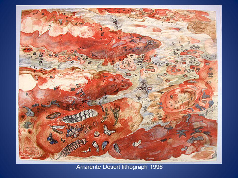 Arrarente Desert lithograph 1996